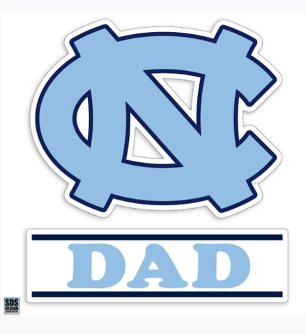 UNC Dad Decal Sticker in Carolina Blue