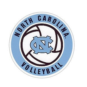 North Carolina Tar Heels SDS Volleyball Magnet- 6 inch