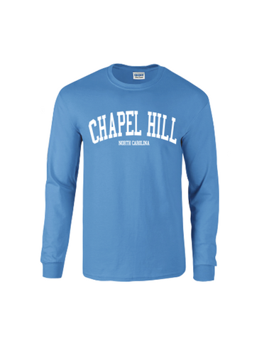Chapel Hill Long Sleeve T-Shirt in Carolina Blue