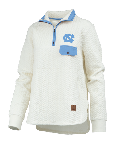 UNC Tar Heels Quilted Jacket for Women - Caribou
