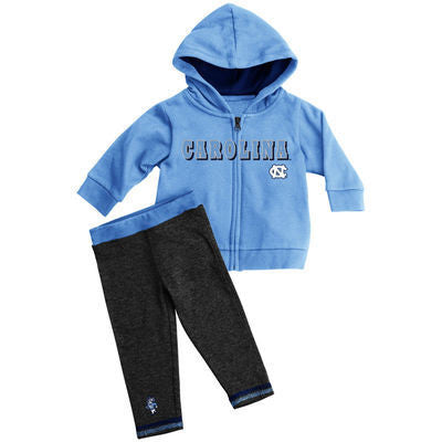 North Carolina Tar Heels Toddler Sparkle Sweatsuit and Leggings Outfit