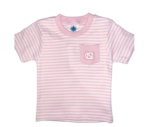 UNC Tar Heels Baby / Toddler Striped Pocket Tee