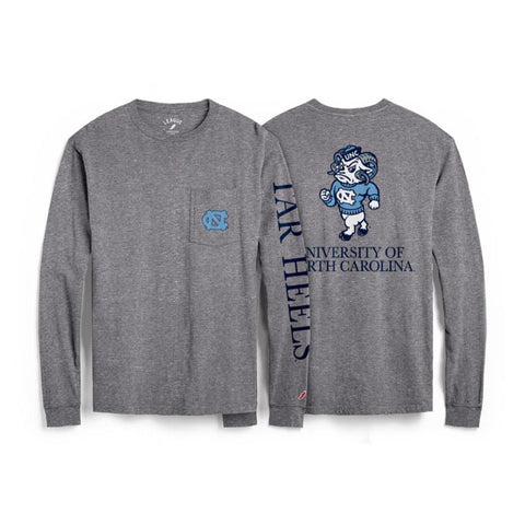 Grey UNC Pocket Long Sleeve