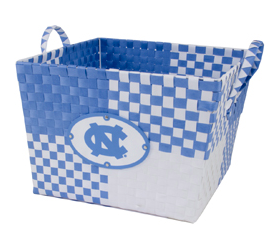 North Carolina Tar Heels Eagles Wings UNC Blue and White Woven Basket