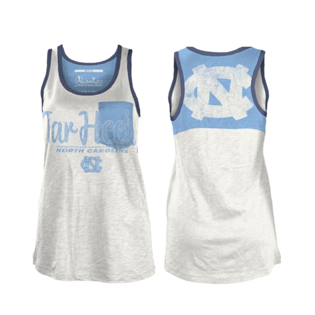 Campbell Tar Heels Womens Tank Top -White