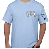 UNC Tar Heels Austin Station - Adult Carolina Camp T-Shirt