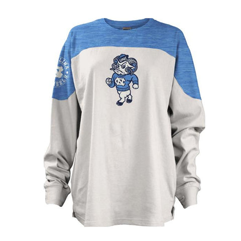 North Carolina Tar Heels Pressbox Cannondale Women's Long Sleeve Shirt - White