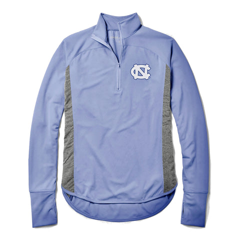Women's UNC 1/4  Zip - Light Weight Caribbean Blue