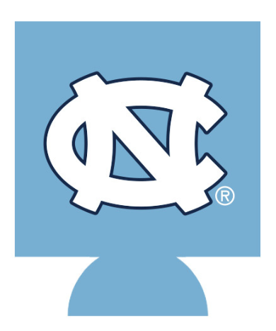 North Carolina Tar Heels JayMac Carolina Blue Interlock NC Koozie