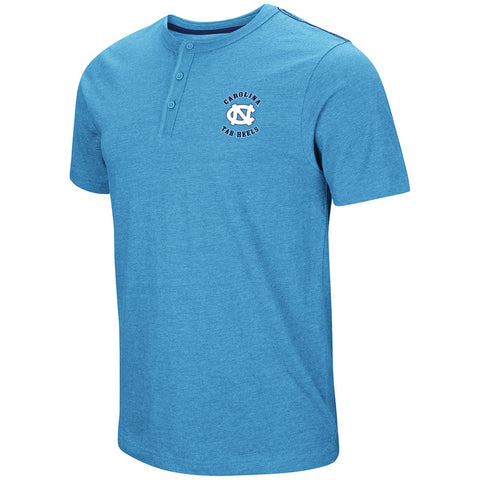 North Carolina Tar Heels Colosseum Bull Durham Henley Tee - Carolina Blue
