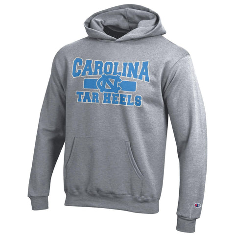 Youth Carolina Tar Heels Hoodie for Kids in Grey by Champion