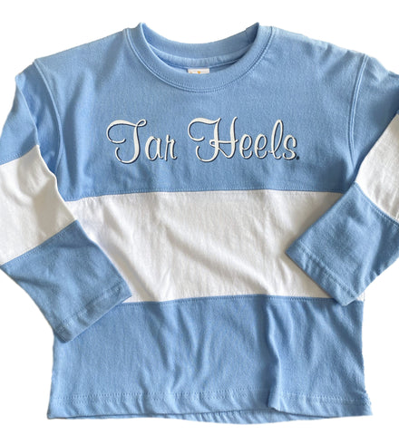 Tar Heels Toddler Long Sleeve - Color Block