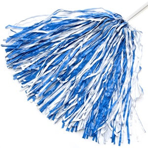 1 Single Carolina Blue and White Pom Pom