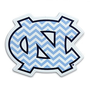 Carolina Blue Chevron NC Interlock 3 Inch Magnet