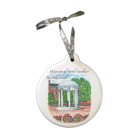 Old Well Ceramic Stone Christmas Ornament