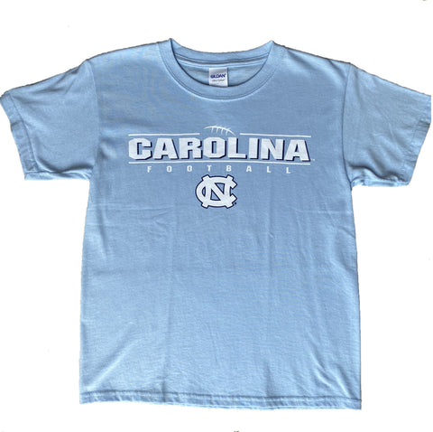 Youth Carolina Football T-Shirt with Laces Design
