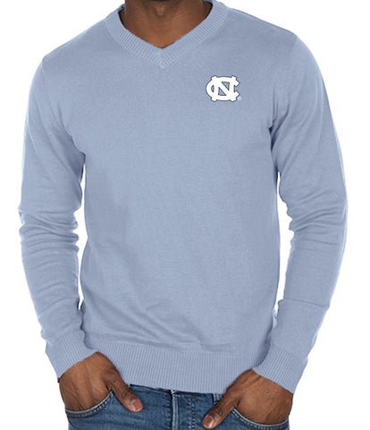North Carolina Tar Heels Bruzer Men's V Neck Sweater