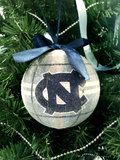 Plaid UNC LED Ball Ornament