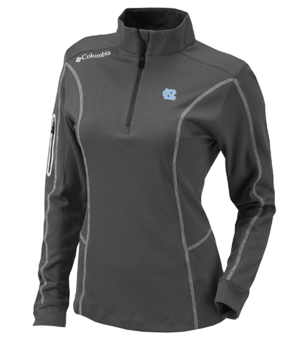 UNC Womens 1/4 Zip Jacket by Columbia