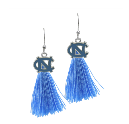 North Carolina Tar Heels Sandol Tassel Earrings