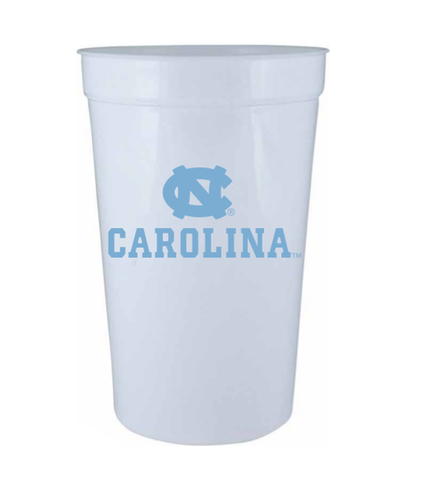 UNC Tar Heels Stadium Cup in White 22 oz