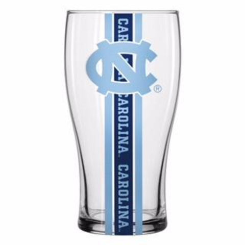 North Carolina Tar Heels Boelter Striped Pub Glass