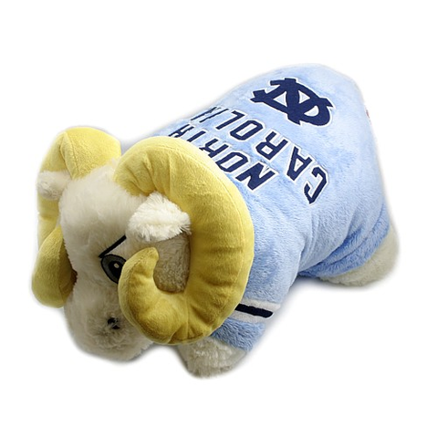 unc mascot rameses pillow pet