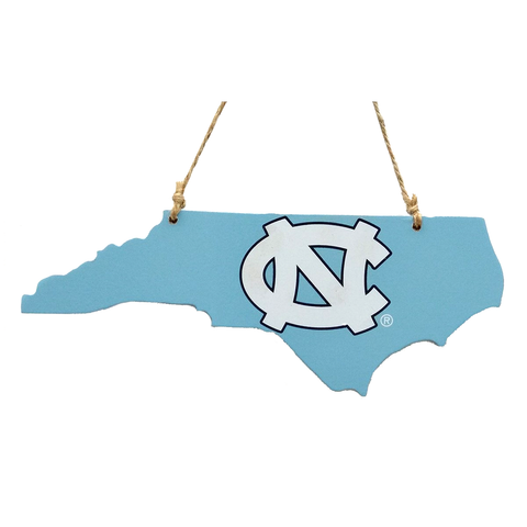 Carolina Blue UNC State Logo Ornament