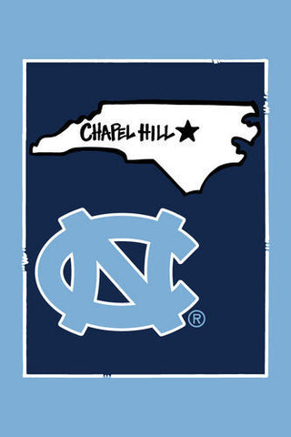 North Carolina Tar Heels Magnolia Lane Chapel Hill UNC Garden Flag