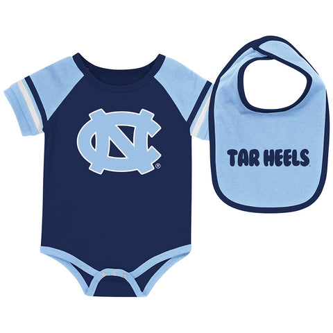 North Carolina Tar Heels Colosseum Baby Roll-Out Onesie & Bib Set