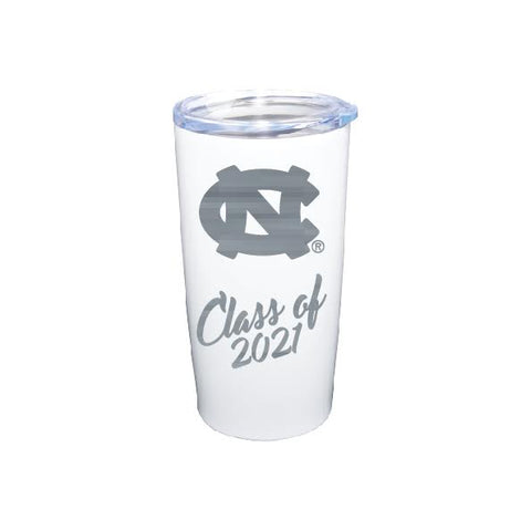 UNC Chapel Hill Class of 2021 Medium Stainless Steel Tumbler 20 oz White