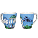 North Carolina Tar Heels Magnolia Lane Old Well Mug