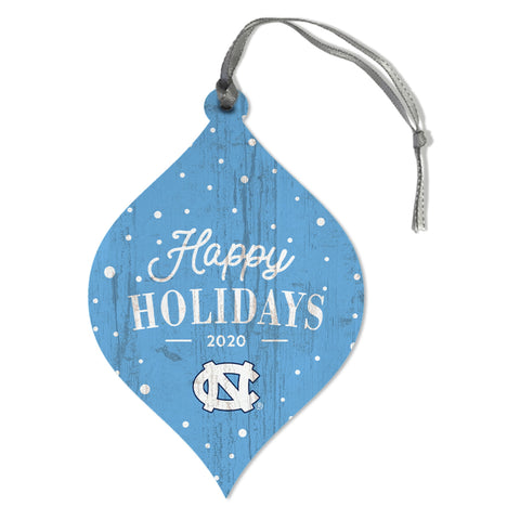 UNC Happy Holidays 2020 Christmas Ornament - Wooden