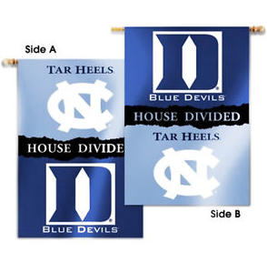 North Carolina Tar Heels BSI Duke House Divided Vertical Banner