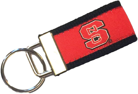 NC State Wolfpack Logo Embroidered Key Fob Keychain