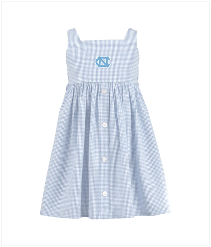 UNC Toddler Girls Dress in Gingham