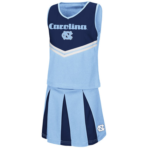 North Carolina Tar Heels Colosseum Girls Pom Pom Cheer Set - Carolina Blue - Front