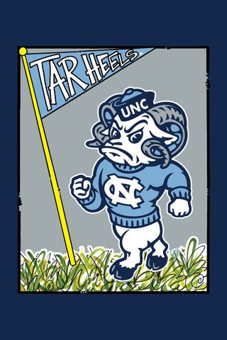 North Carolina Tar Heels Magnolia Lane Mascot Rameses Garden Flag
