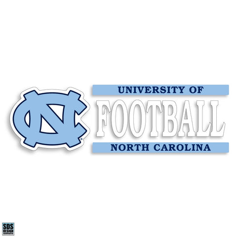 University of North Carolina Football Decal