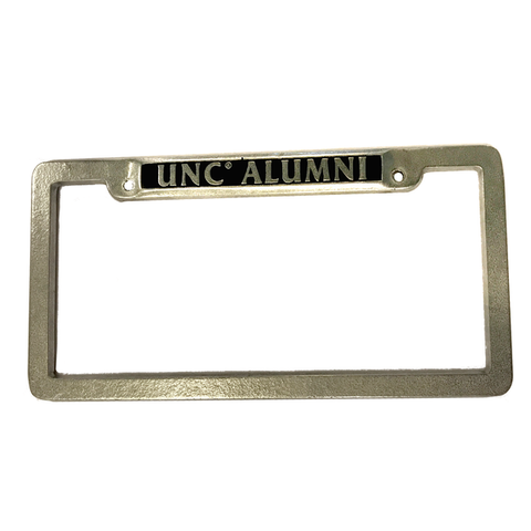North Carolina Tar Heels Pewter UNC Alumni License Plate Frame