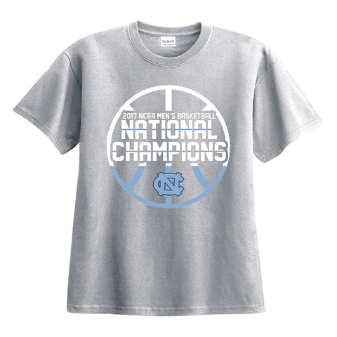 North Carolina Tar Heels 2017 NCAA Men's Basketball National Champions Spike T-Shirt - Grey
