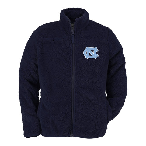 UNC Youth Jacket Carolina Navy Kids Full Zip Sherpa