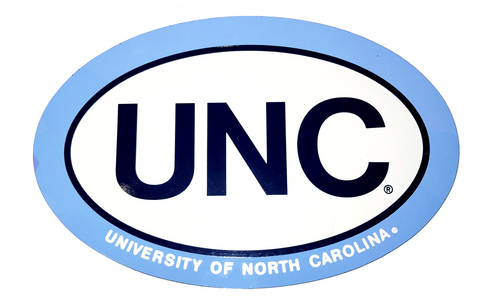 Euro Magnet UNC Text by SDS - UNC 6 inch Oval Magnet