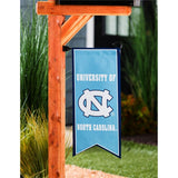 UNC Flag Two Sided Vertical Banner with Pennant Style Bottom