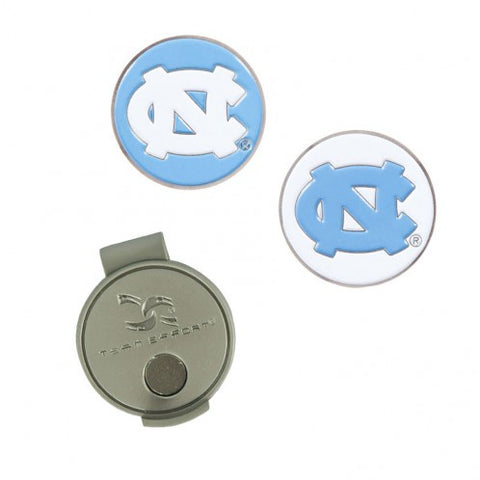 UNC Golf Ball Markers and Hat Clip - Magnetic