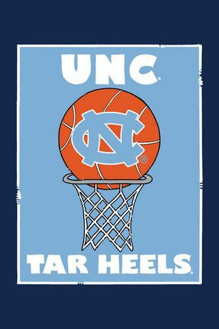 UNC Basketball Tar Heels Garden Flag - Carolina Blue