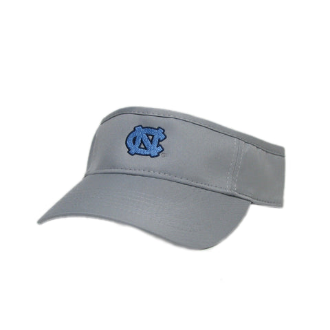 UNC Visor Grey Athletic Cool Fit Visor with Mini UNC Logo