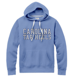 Carolina Blue Hoodie with Carolina Tar Heels in Block Letters