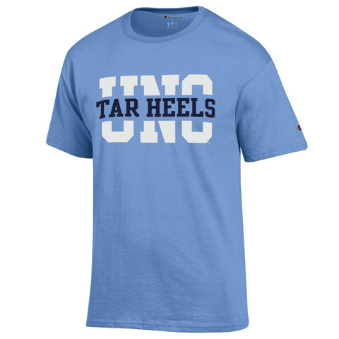 UNC Tar Heels Block Carolina Blue T-shirt