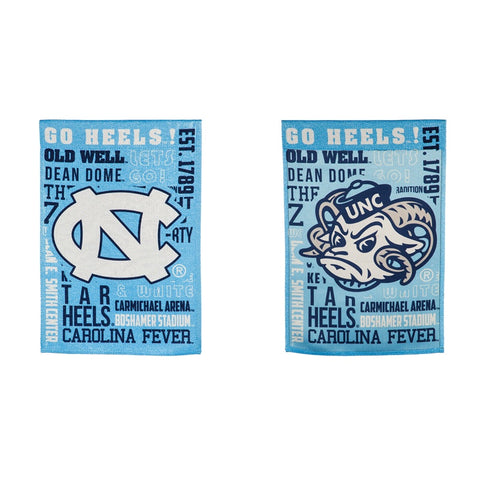 North Carolina Tar Heels Evergreen Fan Rules UNC Cheer Garden Flag